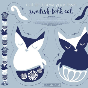 Cut and sew your own swedish folk cat