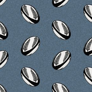 rugby ball fabric - new zealand all blacks rugby fabric, rugby fabric, sports fabric, black and white rugby all, sport fabric - blue with ferns