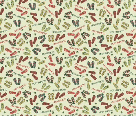 Kiwi Christmas fabric by meredith_watson on Spoonflower - custom fabric