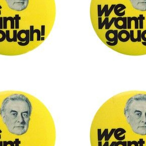 We Want Gough - 5 inch - White