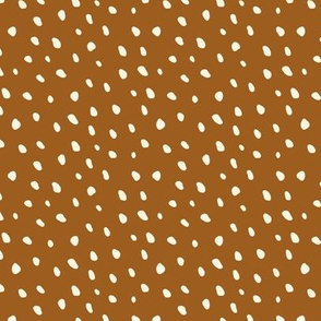 Cream Beans on Orange Rust - small
