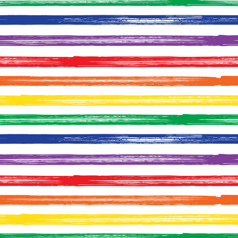 Marker Stripes - rainbow fabric - littlearrowdesign - Spoonflower