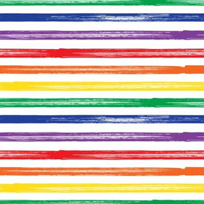 Marker Stripes - rainbow