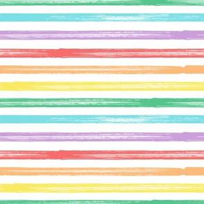 Marker Stripes - pastel rainbow