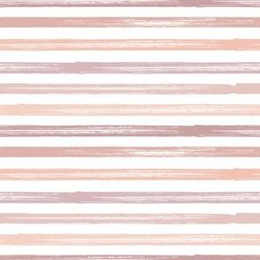 Marker Stripes -  blush tones