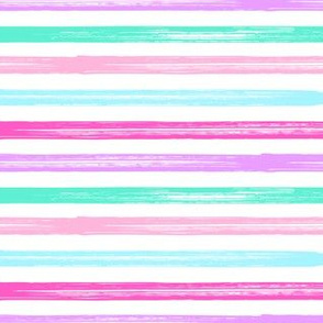 Marker Stripes - multi pink purple blue