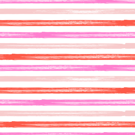watercolor stripes red-02 fabric by littlearrowdesign on Spoonflower - custom fabric