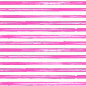Marker Stripes - bright pink