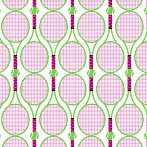Rackets and Ball Pattern in Pink