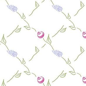 Lilac and Rose Lattice