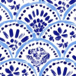 Chinese Blue Mix Scalloped Wave V1