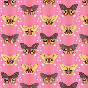 io moths on pink