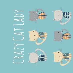 Crazy Cat Lady Tea Towel