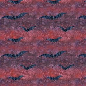 black bats on scarlet red maroon purple