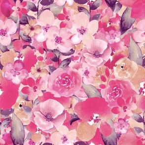 Pastel Watercolor Flower Pattern