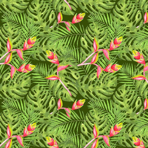 Green Tropical Jungle Pattern