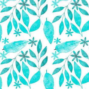 Watercolor Plants Pattern