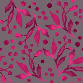 Elegant Pink Leaf Pattern