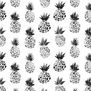 Black pineapples || watercolor scandi pattern