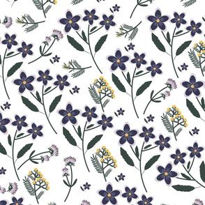 Field flowers pattern