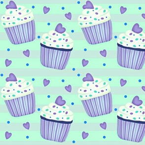 Cup Cakes for my Sweetheart!   - purple