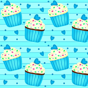 Cup Cakes for my Sweetheart!    blue