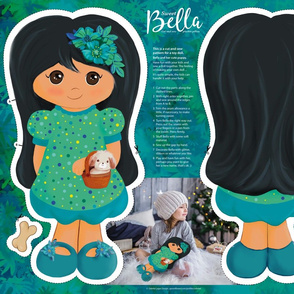 Bella cut and sew doll dark hair