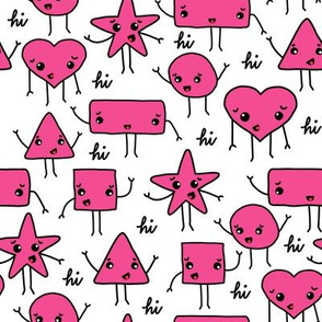 friendly shapes | pink