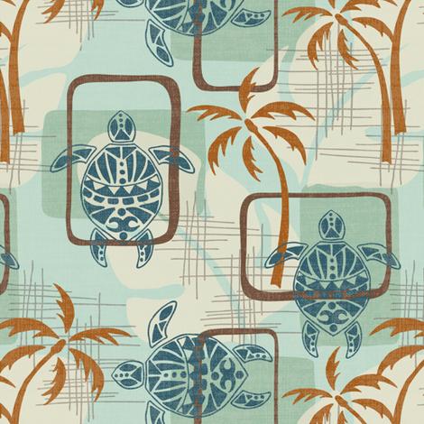 Mid Century Modern Hawaii - Small fabric by fernlesliestudio on Spoonflower - custom fabric