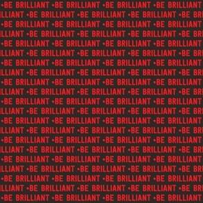 be brilliant micro | red black