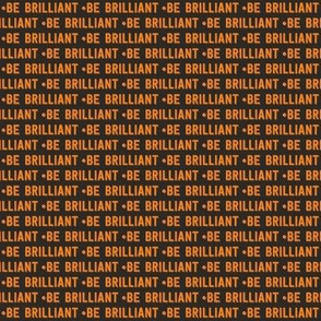 be brilliant micro | orange black