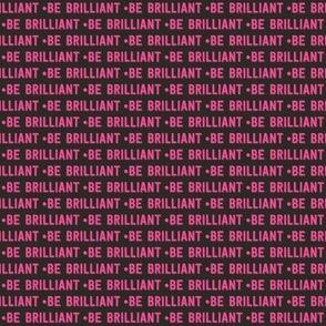be brilliant micro | pink black