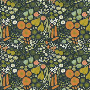 Botanical Sketchbook M+M Navy Mini by Friztin