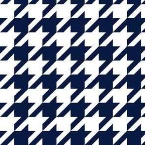 Houndstooth Check // Navy & White ((Medium))