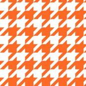 Houndstooth Check // Orange  & White ((Medium))