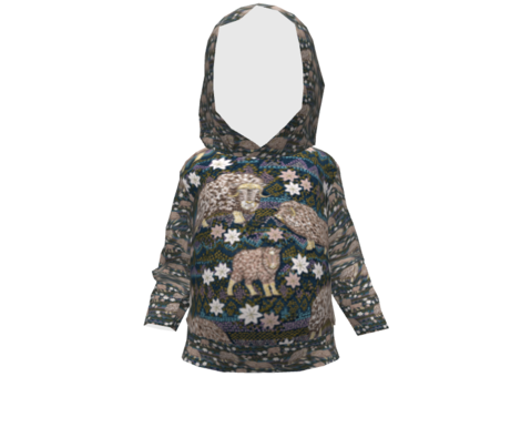 Musk Oxen of Fair-Islendia (Navy) tiny