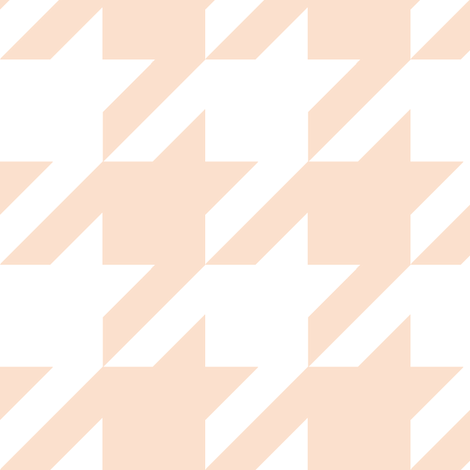Houndstooth Check // Peachy Tan Neutral ((Medium)) fabric by theartwerks on Spoonflower - custom fabric