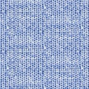 Faux Sweater Knit Blue