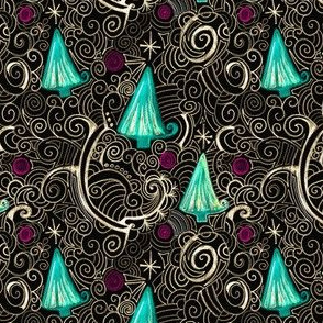 Christmas Project 125.2 | Christmas Trees on Black