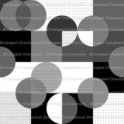 squares and circles-bw