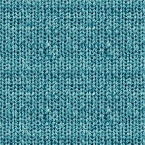 Faux Sweater Knit Cerulean