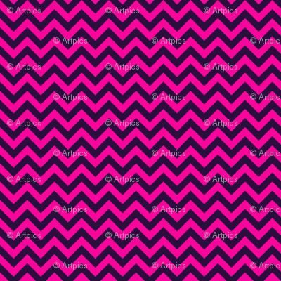 Bold Pink Black Chevron Color Zig Zag Pattern