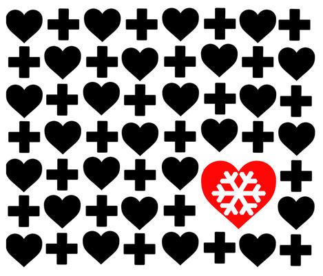 HeartsAndSnow fabric by designsbyreg on Spoonflower - custom fabric