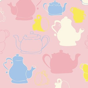 Pink Teapots and Teacups