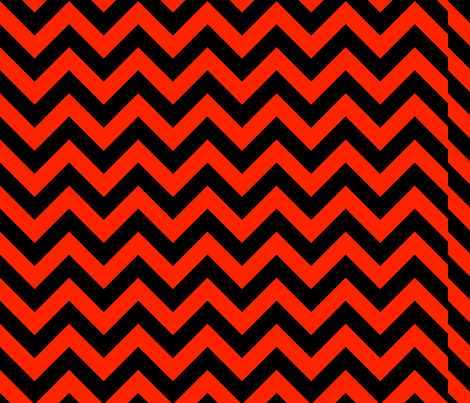 Scarlet Red Black Color Chevron Zig Zag Pattern fabric by artpics on Spoonflower - custom fabric
