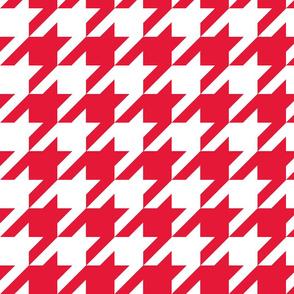 Houndstooth Check //Red ((Medium))