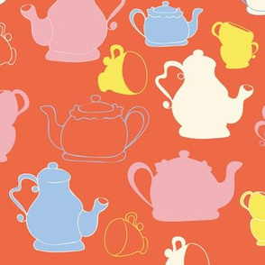 Red Teapots and Teacups