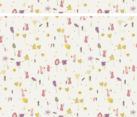 Dog Cuddle fabric by hejs_ on Spoonflower - custom fabric