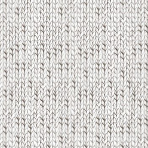 White knitted fabric
