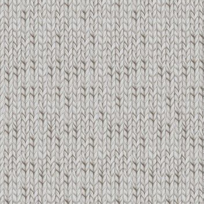Grey knitted fabric